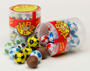 Tubz Chocolate Footballs